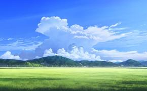 Картинка горы, природа, дома