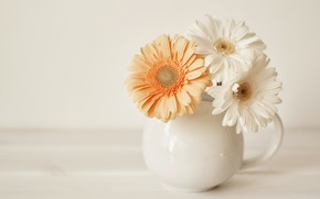 Картинка букет, ваза, герберы, IRINA BORT