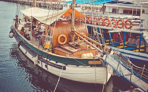 Картинка пристань, парусник, корабли, pier, LONDON, marina, sailboat