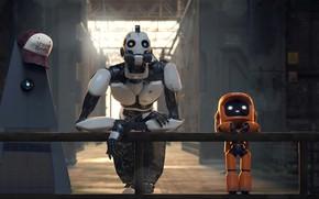 Картинка мультик, мультфильм, роботы, Robots, Love Death & Robots, Любовь смерть и роботы