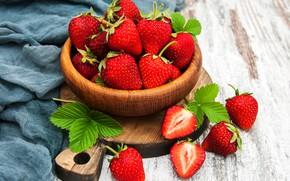 Картинка ягоды, чаша, клубника, сладкая, спелая, Olena Rudo