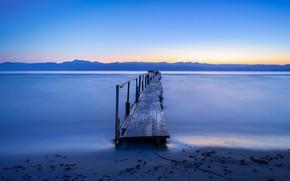 Картинка море, мост, берег, Corfu, Ionian Islands, Apraos