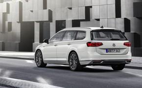 Картинка улица, Volkswagen, универсал, GTE, Passat, Variant, 2019
