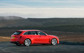 Картинка Audi, вид сзади, 2018, универсал, RS4, Avant