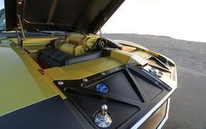 Картинка Капот, Двигатель, Muscle car, 1972, Classic car, Sports car, AMC, V8, AMC Javelin, By RingBrothers, …