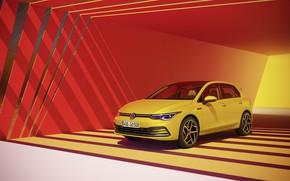 Картинка Volkswagen, хэтчбек, Golf, hatchback, R-Line, 2020