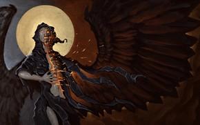 Картинка череп, ангел, нежить
