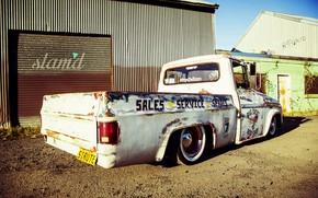 Картинка Dodge, Car, Old, Truck, Custom, Low