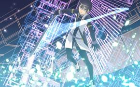 Картинка аниме, арт, парень, Мастера меча онлайн, Sword Art Online, Кирито