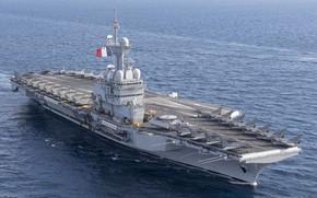 Картинка Авианосец, Dassault Rafale, Rafale M, ВМС Франции, Charles de Gaulle (R91), Dassault Rafale M, E-2D …