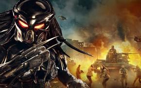 Картинка фантастика, Хищник, постер, ужасы, The Predator