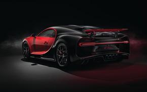 Картинка Bugatti, вид сзади, 2018, Sport, Chiron