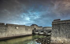 Картинка берег, крепость, Citadelle de Port-louis