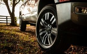 Картинка колесо, Nissan, бампер, пикап, Titan, 2020, Titan XD Platinum Reserve