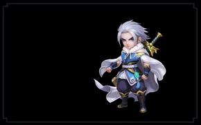 Картинка оружие, игра, меч, воин, фэнтези, арт, wang xiao, Shushan Hero