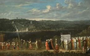Картинка масло, картина, холст, 1737, Жан Батист Ван Мур, Jean Baptiste Vanmour, Турецкая свадьба