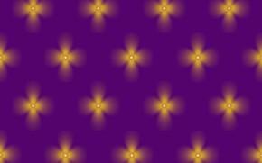 Картинка yellow, pattern, purple, clovers