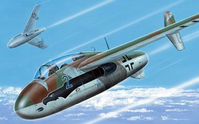 Картинка Германия, прототип, истребитель-перехватчик, люфтваффе, Zdenek Machacek, высотный истребитель, Junkers EF 128C