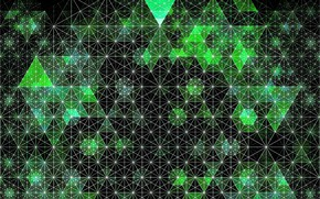 Картинка узор, объем, треугольник