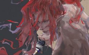 Картинка взгляд, меч, парень, Onmyouji, Onmyouji (NetEase), Shutendouji