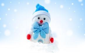 Картинка зима, праздник, игрушка, Рождество, снеговик