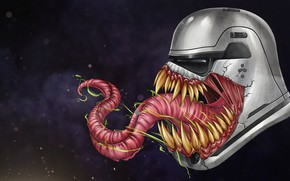 Картинка Рисунок, Язык, Star Wars, Зубы, Шлем, Маска, Арт, Marvel, Веном, Venom, Симбиот, Штурмовик, Creatures, Имперский …