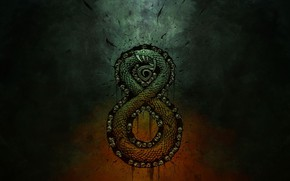 Картинка skull, fantasy, snake, Warchief gaming, Auroboros: Coils of the Serpent