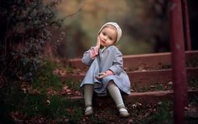 Картинка фон, портрет, девочка