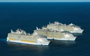 Картинка Океан, Море, Судно, Oasis of the Seas, Флот, Royal Caribbean International, Пассажирское судно, Пассажирский лайнер, ...