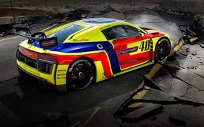 Картинка Авто, Машина, Асфальт, AUDI, GT3, Concept Art, AUDI R8, Трещины, Разлом, Transport & Vehicles, Benoit …