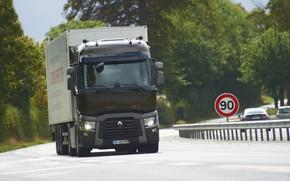Картинка знак, ограждение, грузовик, Renault, седельный тягач, 4x2, полуприцеп, Renault Trucks, T-series