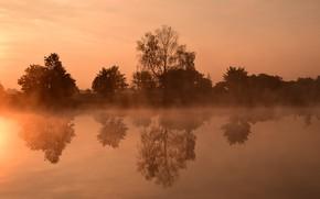Картинка Вода, Отражение, Утро, Испарения
