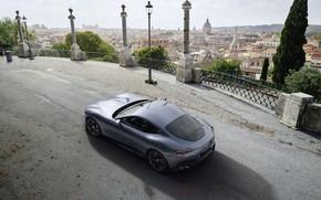 Картинка Италия, Ferrari, суперкар, вид сверху, Roma, 2020