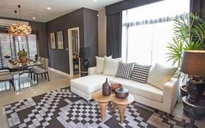 Картинка Khonkaen, Single House, интерьер, столовая, гостиная