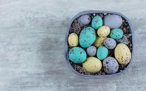 Картинка яйца, Пасха, корзинка, eggs, easter, decoration