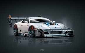 Картинка Toyota, Supra, Toyota Supra, Concept Art, Science Fiction, Transport & Vehicles, by JREEL, JREEL, by …
