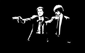 Картинка фильм, криминальное чтиво, черно - белое