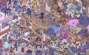 Картинка Робот, Пистолет, Роботы, Ангел, Бой, Драка, Оружие, Битва, Fantasy, Blizzard, Арт, Art, Мэй, Robot, Robots, ...