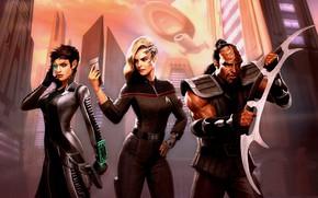 Картинка фантастика, персонажи, Star Trek Online