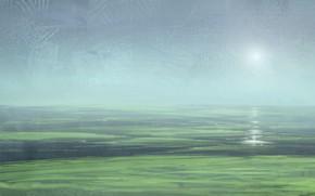 Картинка вода, солнце, болота