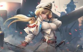Картинка карабль, аниме, арт, капитан, флот, Captain, Taejune Kim