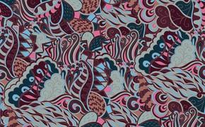 Картинка абстракция, фон, узор, texture, background, пейсли