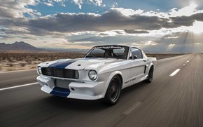 Картинка Car, Ford Mustang, Speed, Muscle car, Road, Classic car, Shelby GT350CR