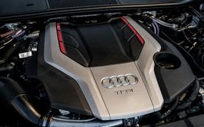 Картинка Audi, двигатель, крышка, седан, TFSI, Audi A6, 2020, Audi S6, US-version, 444 л.с., 2.9 л., …