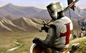 Картинка Меч, Тамплиер, Кольчуга, Рыцарь, Крестоносец, Храмовник, Крестовые походы