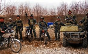 Картинка gun, USA, soldier, weapon, man, uniform, camouflage, Americans, spec ops, US MARSOC Raiders, MARSOC Raiders, …