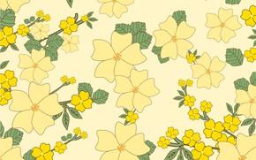 Картинка цветы, ретро, фон, текстура