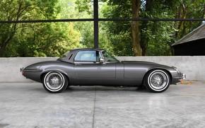 Картинка вид сбоку, британский, Jaguar E-Type