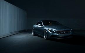 Картинка Dark, Mercedes, Car, AMG, Coupe, S63