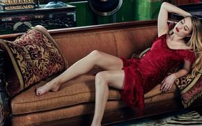 Картинка поза, Amber Heard, ножки, красотка, макияж, девушка, платье